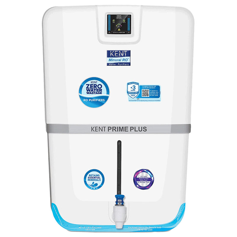Kent Prime Plus RO Plus UV Plus UF Plus TDS Water Purifier (11100, White)