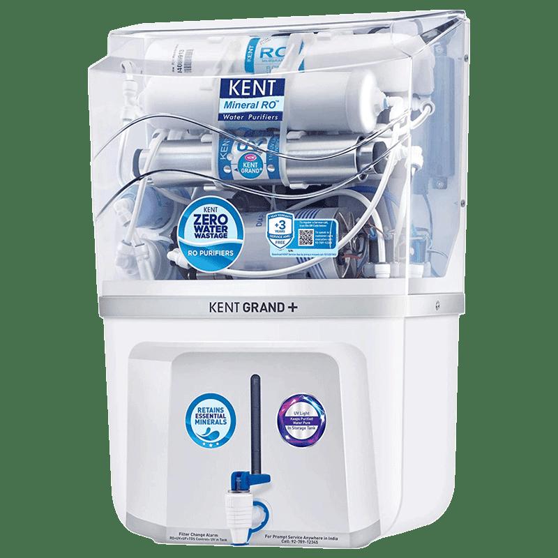 Kent Grand Plus RO Plus UV Plus UF Plus TDS Water Purifier (11099, White)