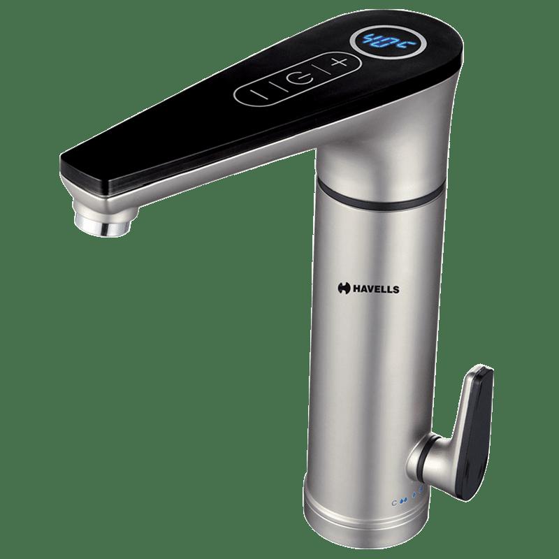 Havells Linea 4 Litres Instant Hot Water Tap (3300 Watts, GHWELOTWS003, Silver)