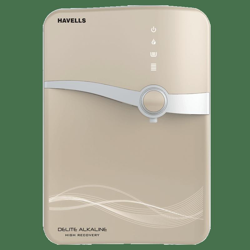Havells Delite Alkaline High Recovery RO Plus UV Water Purifier (GHWRDLC015, Beige)