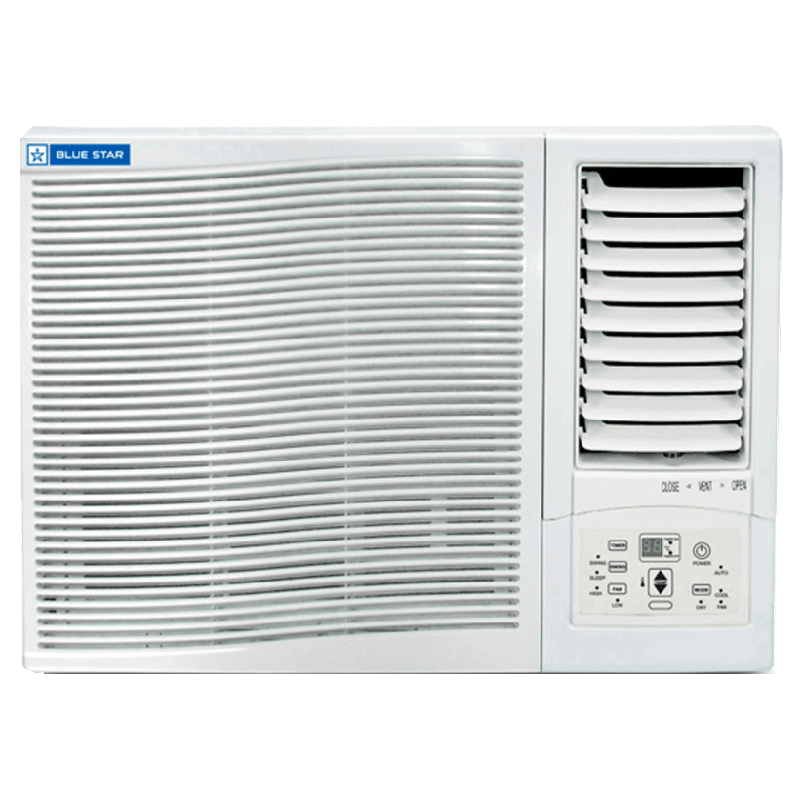 Blue Star YD Series 0.75 Ton 3 Star Window AC (Air Purification Function with PM 2.5 Filter, Copper Condenser, 3WAE081YDF, White)