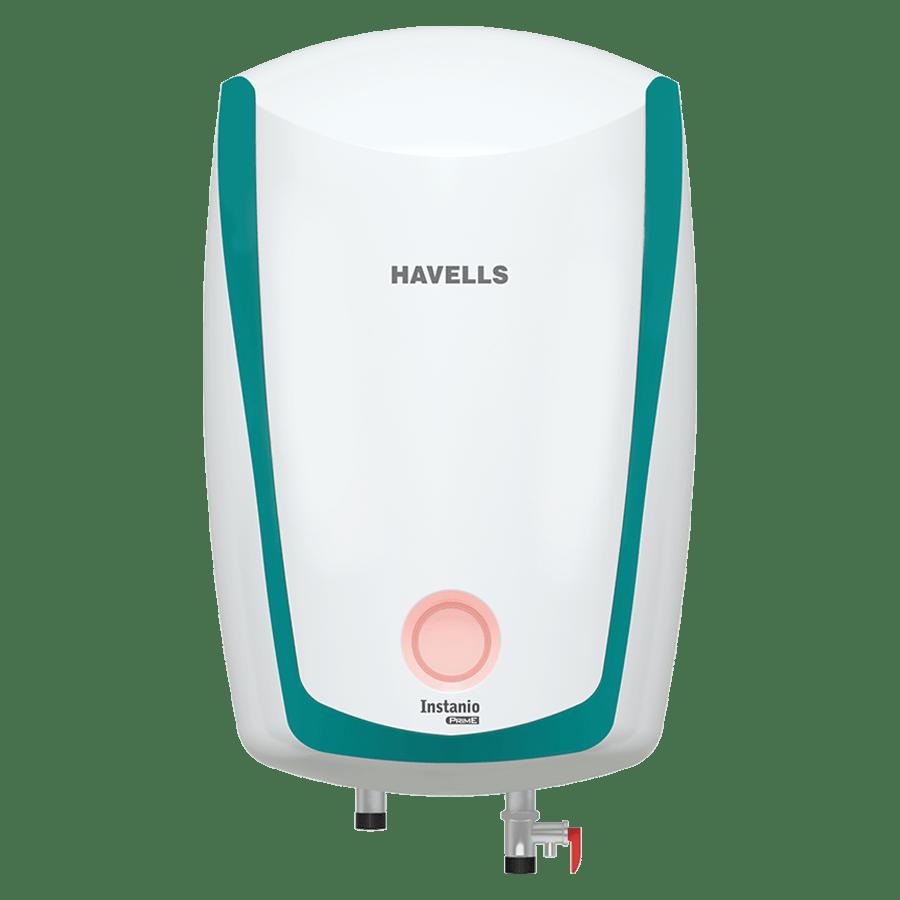 Havells Instanio Prime 6 Litres 5 Star Storage Water Geyser (3000 Watts, GHWAIATWB006, White/Blue)