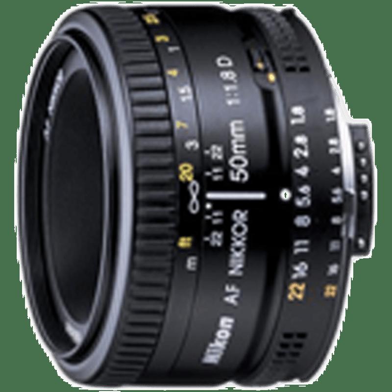 Nikon Nikkor Lens (AF 50 mm f/1.8D, Black)