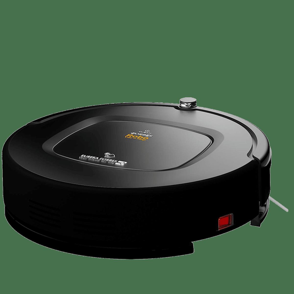 Eureka Forbes Robo Vac n Mop 16 Watts Robotic Vacuum Cleaner (0.5 Liters Tank, GFCDFRCLN00000, Black)