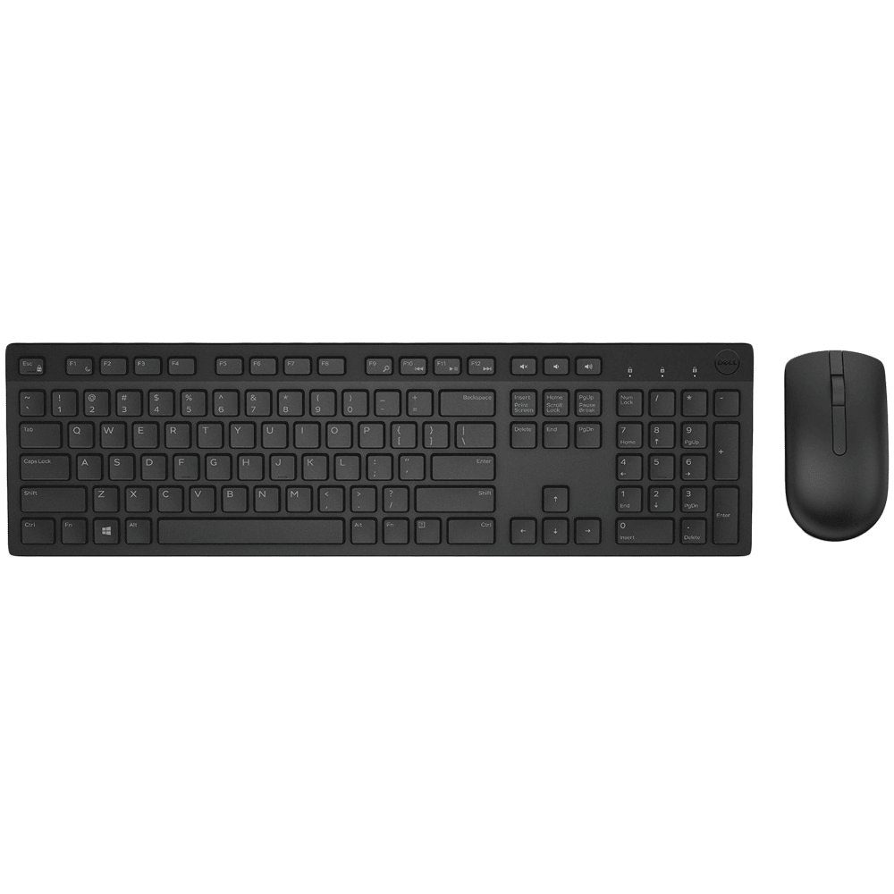 Dell Wireless Keyboard & Mouse Combo (2.4 GHz Interface, KM636, Black)