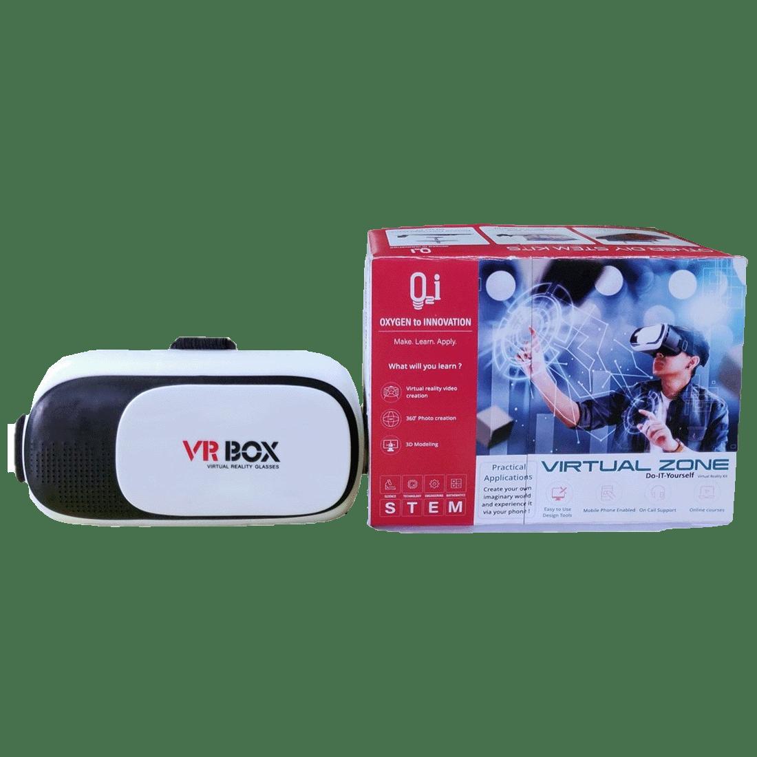 O2i Virtual Reality Box Do It Yourself VR Kit for Beginners (EDU-VR-003, Black)