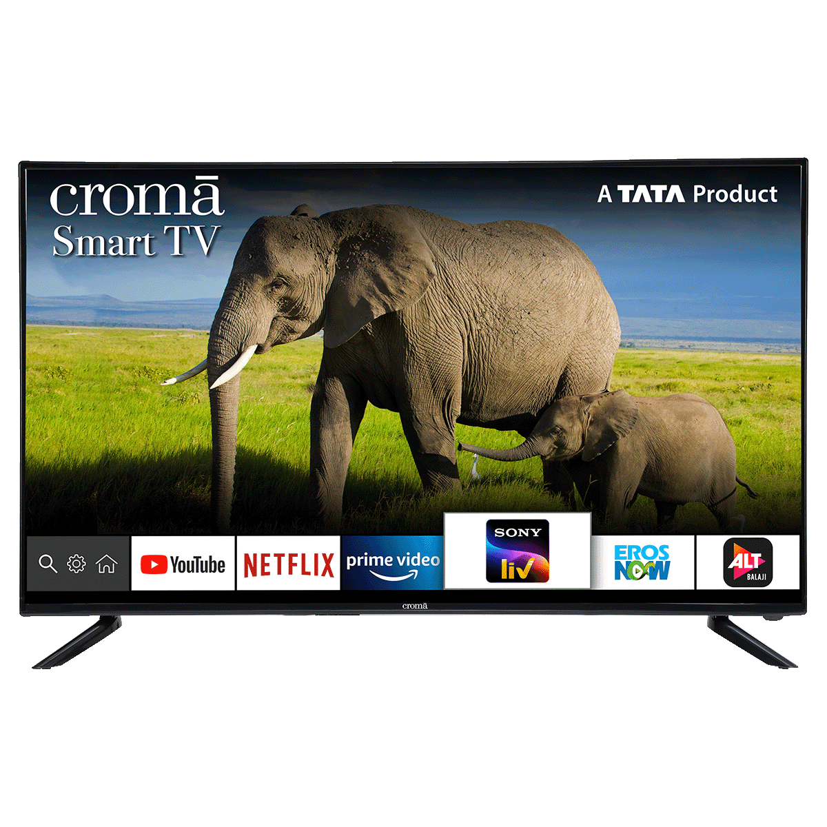 Croma 124.4cm (49 Inch) 4K Ultra HD LED Smart TV (Dual Box Speakers, EL7346N, Black)