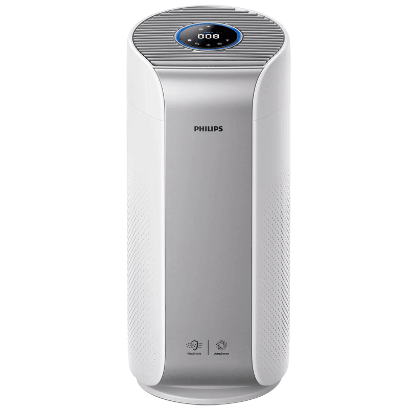 Philips Series 3000i Vitashield IPS and AeraSense Technology Air Purifier (Multi Touch, AC3059/65, Light Silver and White)