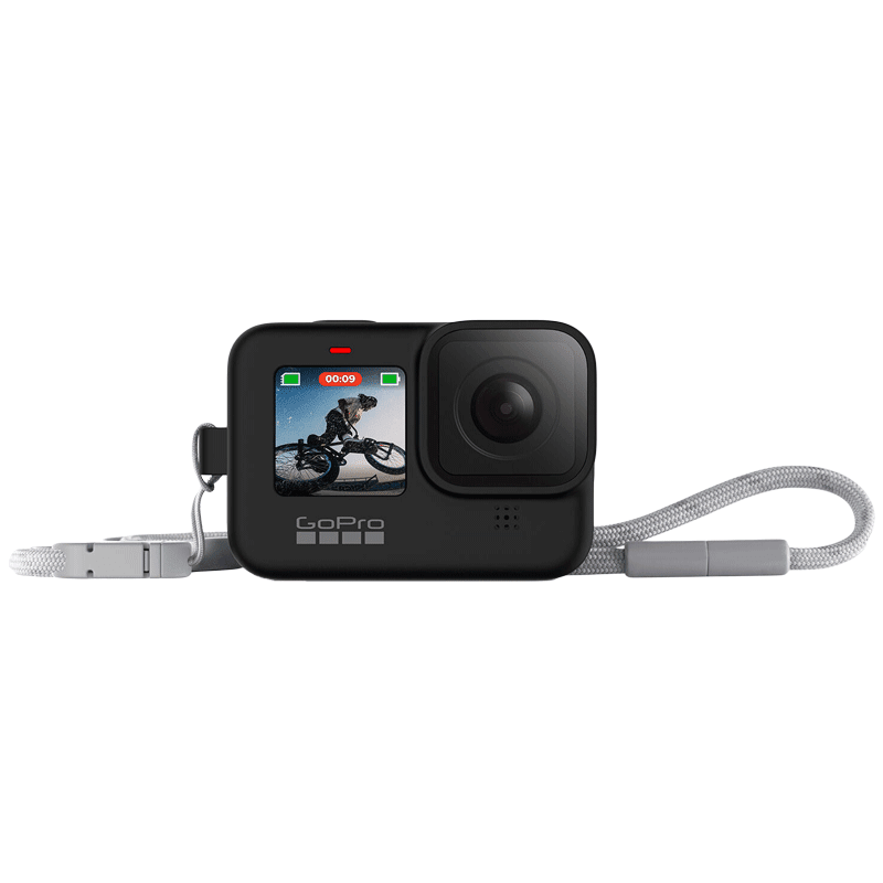 GoPro Sleeve Plus Lanyard For Hero 9 (Adjustable Lanyard, ADSST-001, Black)