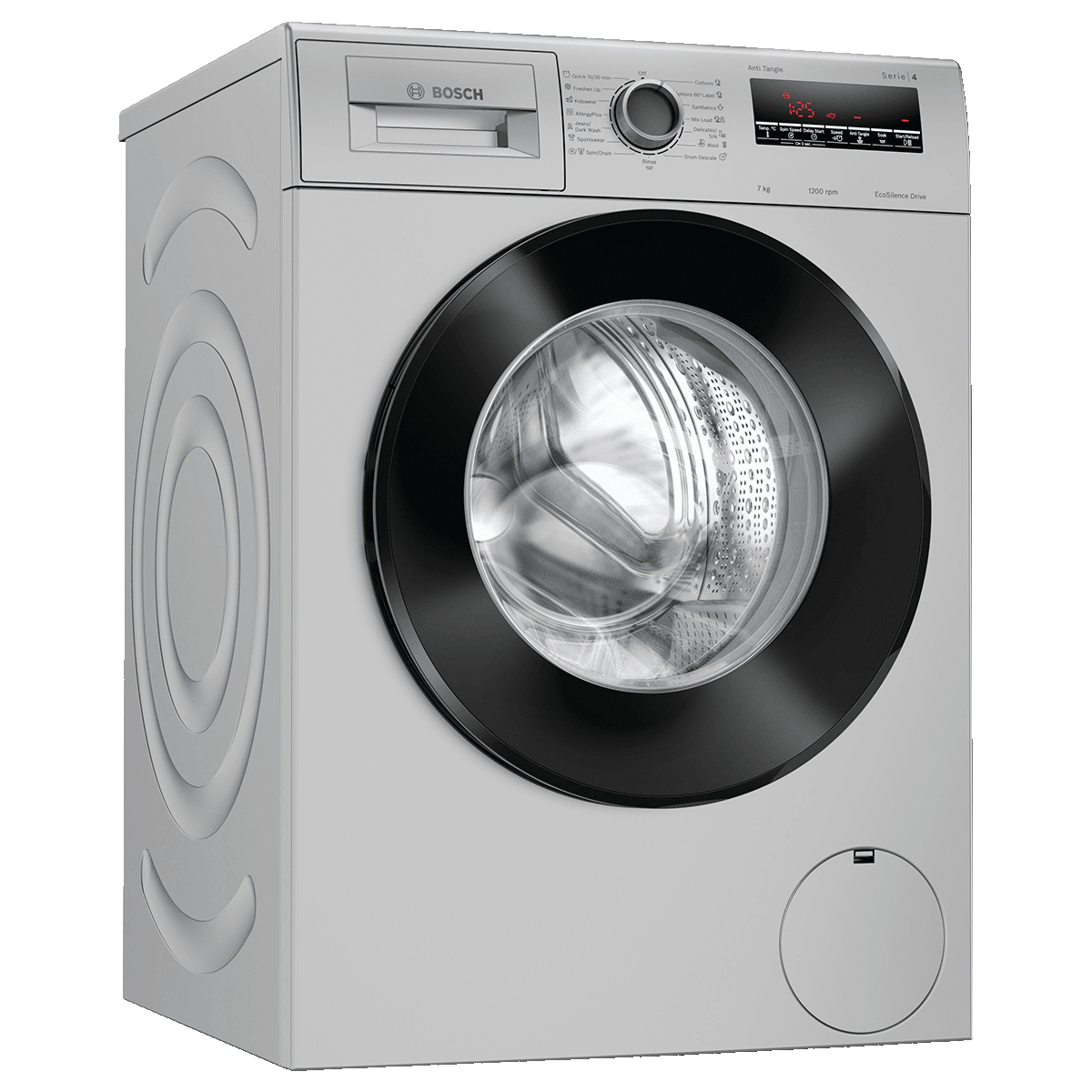 Bosch Serie 4 7 Kg Fully Automatic Front Load Washing Machine (Reload Function, WAJ24262IN, Platinum Silver)
