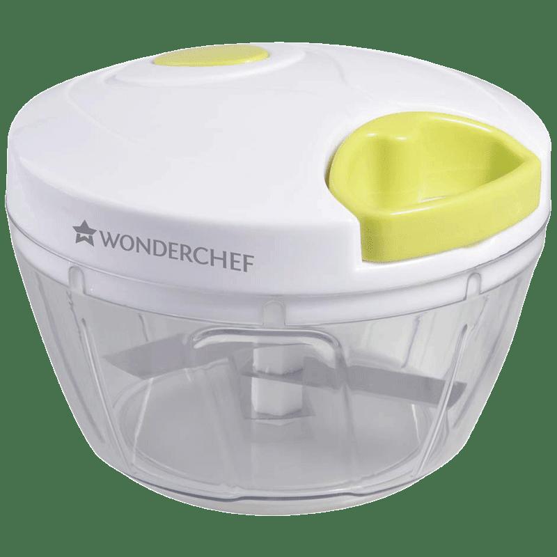 Wonderchef String Chopper (Suitable for Fruits + Vegetable, 3 Blades, 63152935, White/Green)