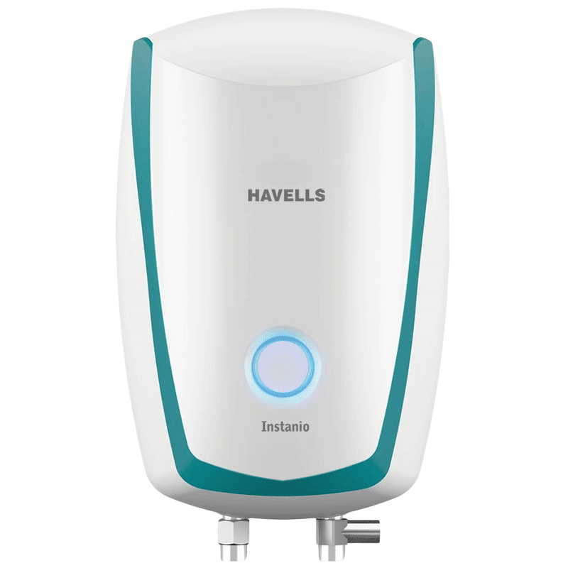 Havells Instanio 1 Litre Instant Water Geyser (4500 Watts, GHWAIBPWB001, White & Blue)