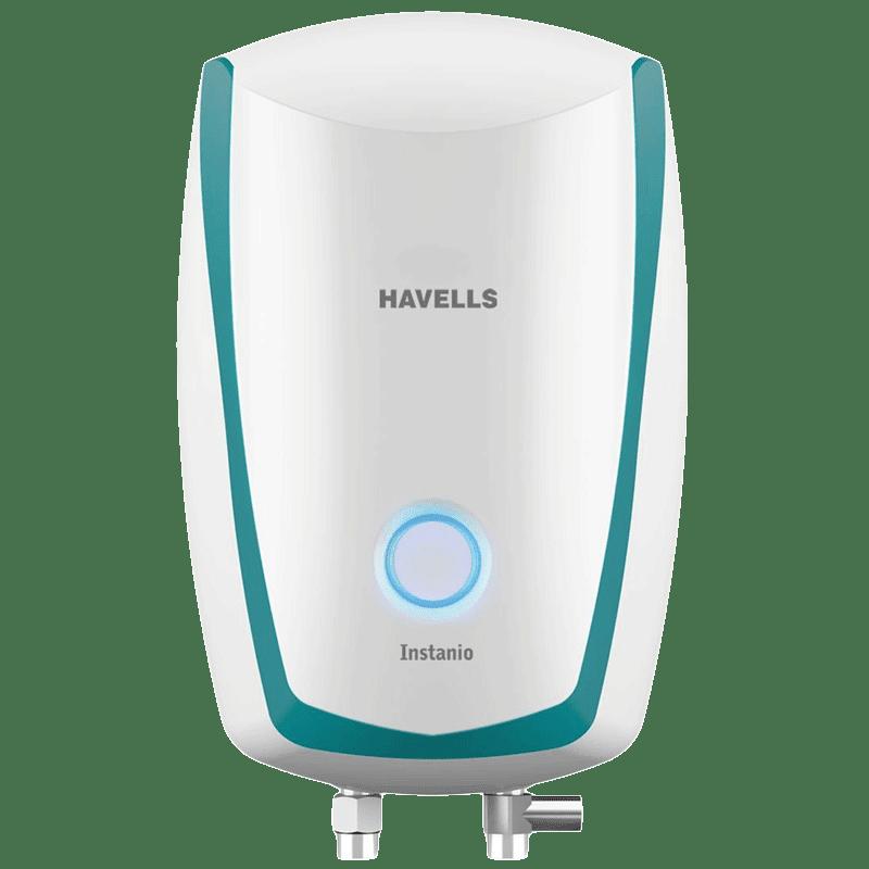 Havells Instanio 1 Litre Instant Water Geyser (3000 Watts, GHWAIAPWB001, White & Blue)