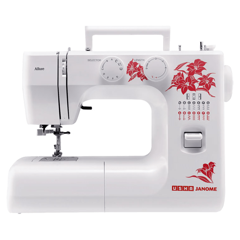 Usha Allure DLX Electric Sewing Machine (20117000003, White)
