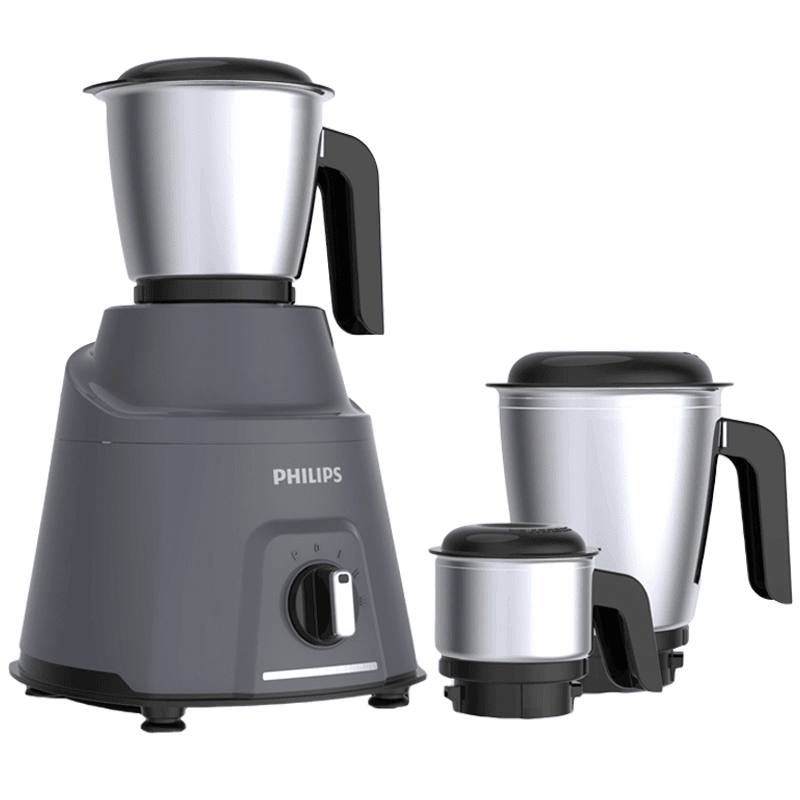 Philips Avengers 750 Watts 3 Jars Mixer Grinder (Auto Cut-off, HL7760, Grey)