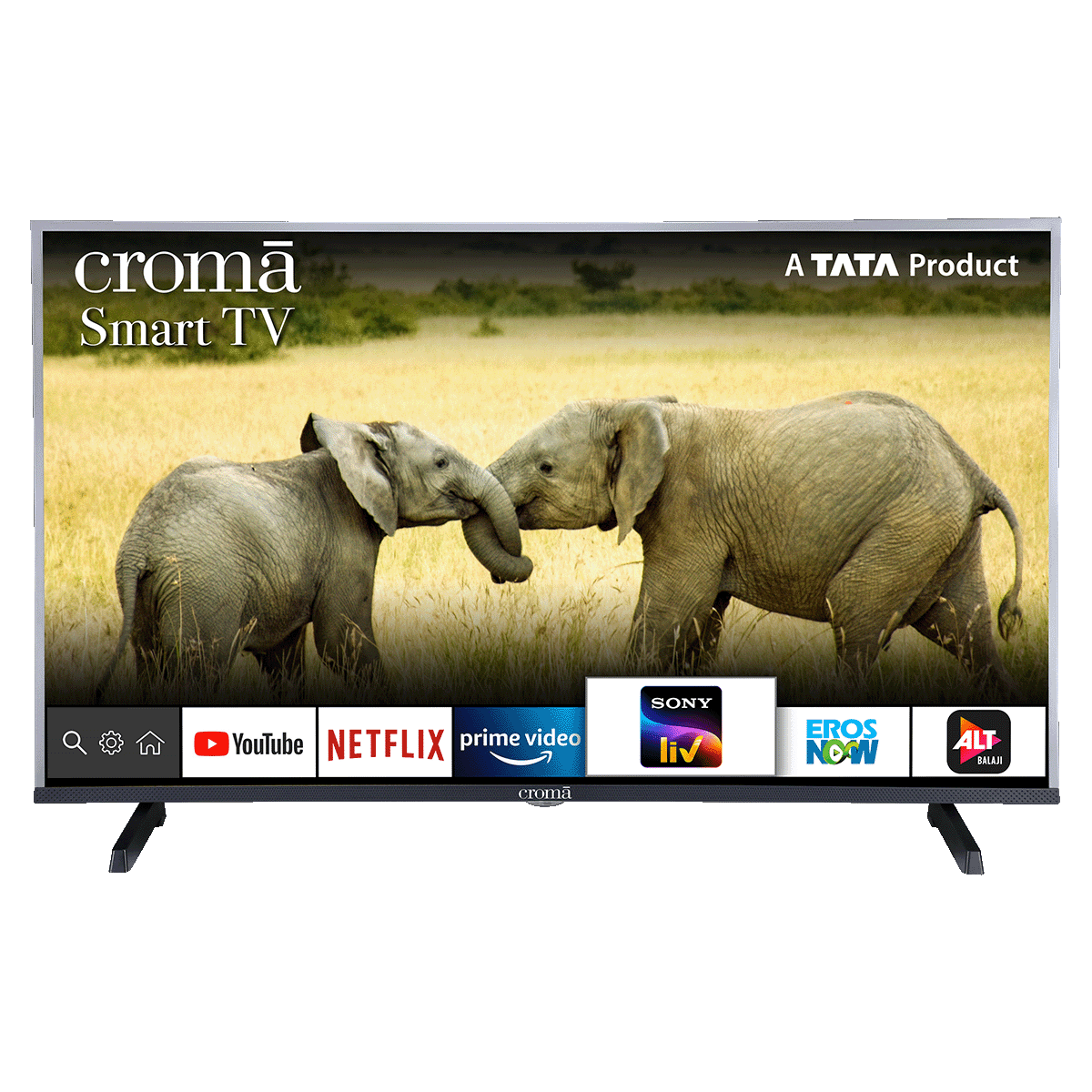 Croma 100.3cm (39.5 Inch) Full HD  Smart TV (Dual Box Speakers, CREL7362N, Black)