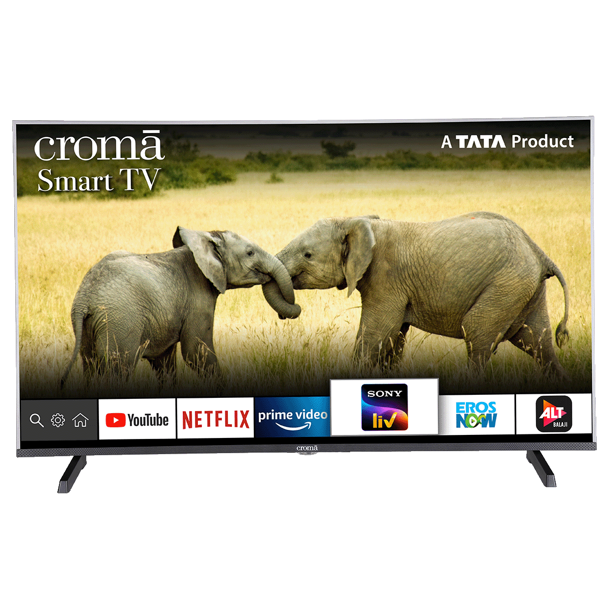 Croma 109.2cm (43 inch) Full HD LED Smart TV (Dual Box Speakers, CREL7361N, Black)