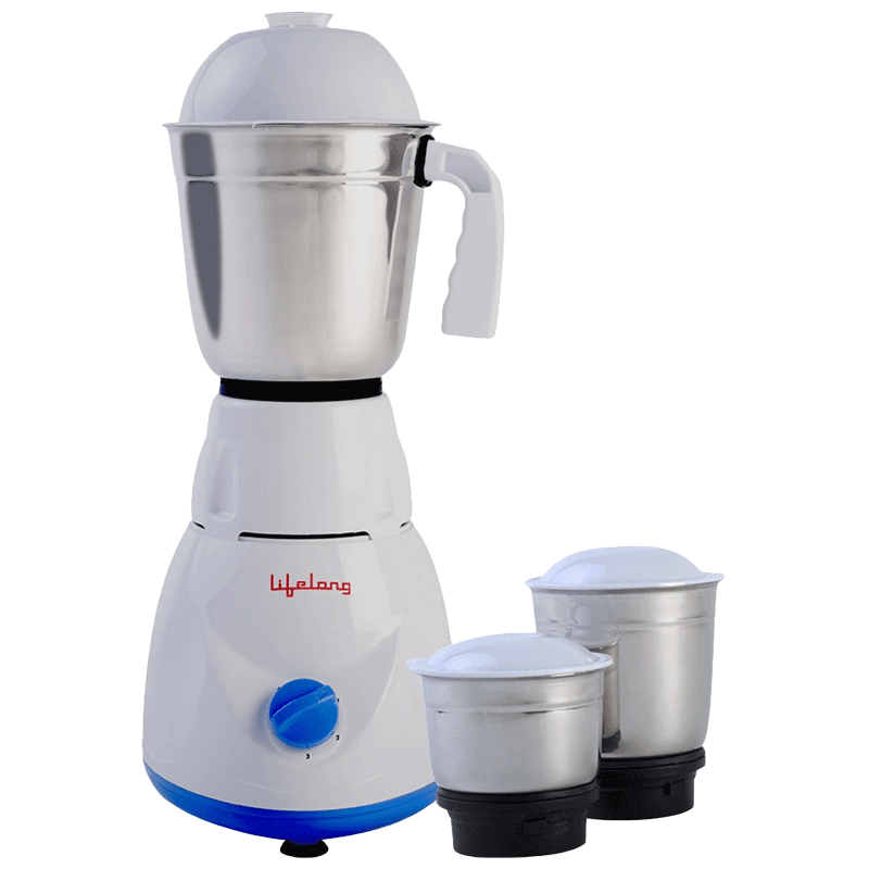 Lifelong Maxo 500 Watts 3 Jars Mixer Grinder (Electric Citrus Juicer, LLMG21, Blue)