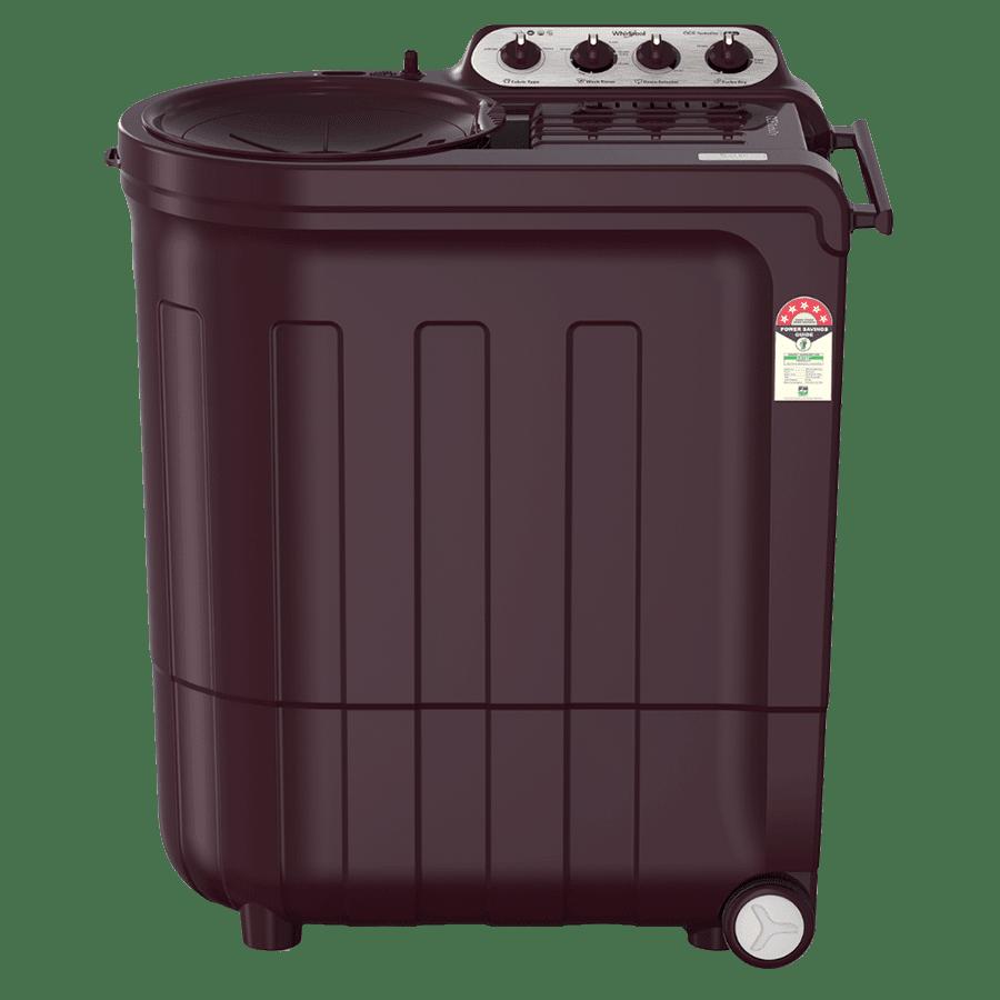 Whirlpool Ace Turbo Dry 7.5 kg 5 Star Top Load Semi-Automatic Washing Machine (Turbodry Technology, Wine Dazzle)