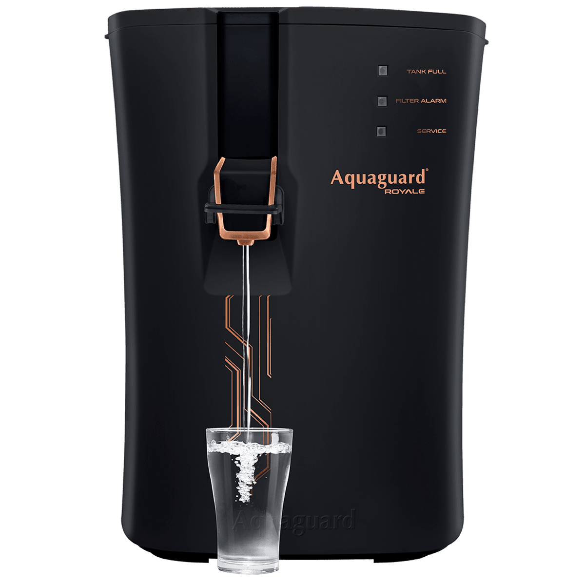 Aquaguard Royale RO+UV+SS+ZPP Electrical Water Purifier (Mineral Enhancer, Black/Copper)