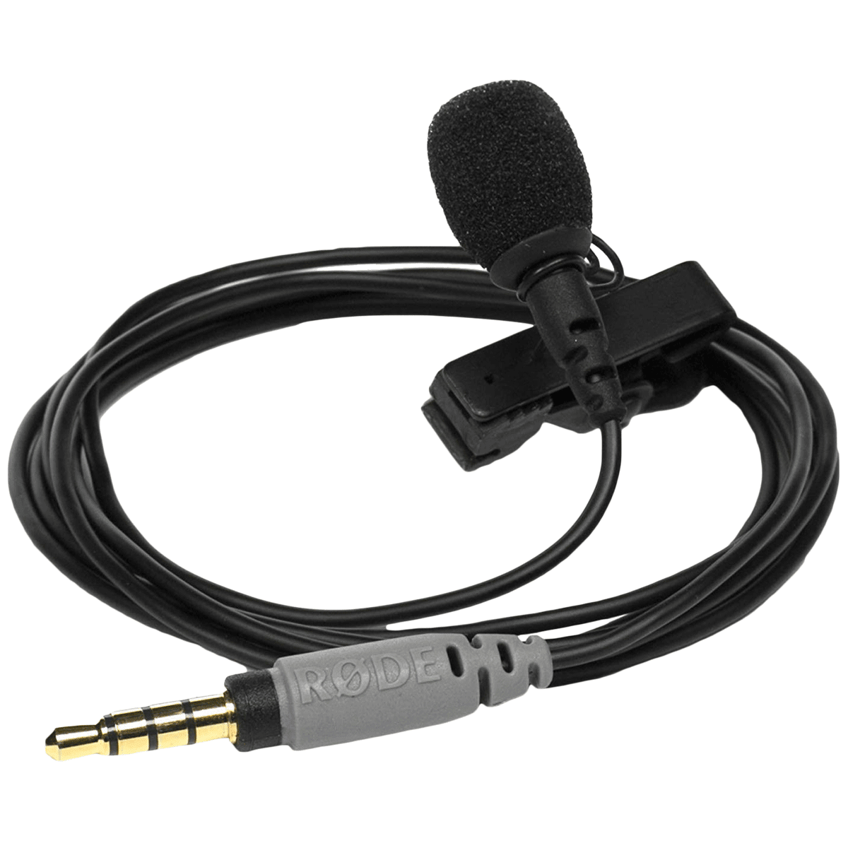 Rode Hanging Wired Lavalier Microphone (Omni Directional Pickup Pattern, SmartLav+, Black)