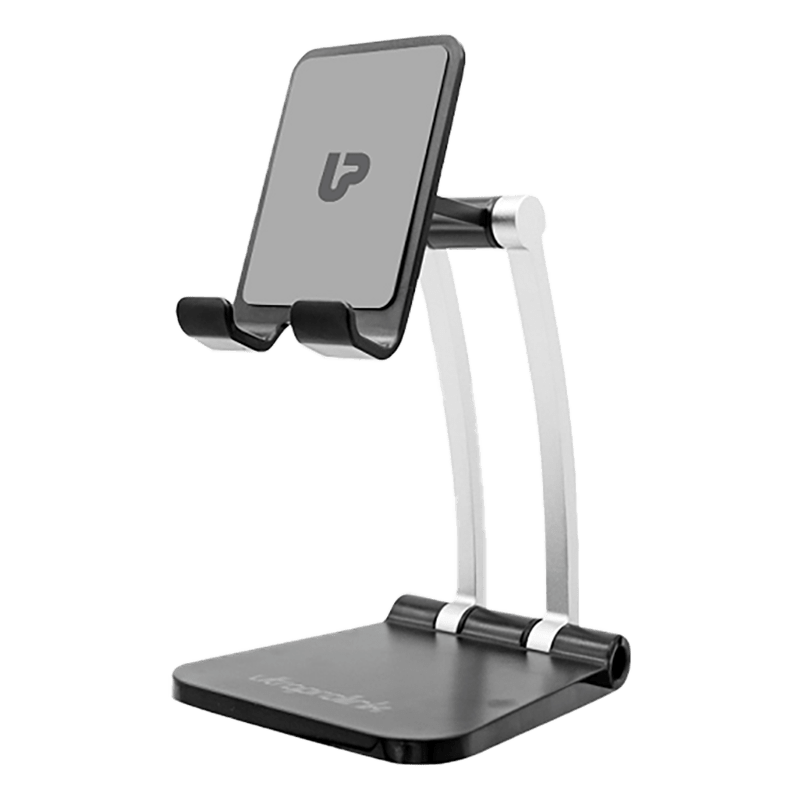 UltraProlink Table Top Stand Universal Phone Holder for Tablets and Smartphones (Multi view Angle, UM1030, Black)