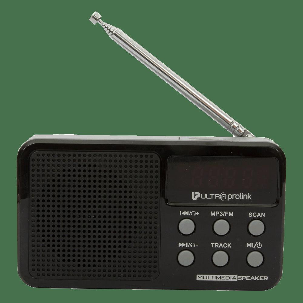 UltraPoint Retro Vintage Micro SD Card MP3 Playable 3 Watts Classic Portable FM Radio Player (UM0017, Black)