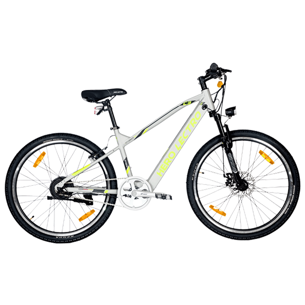 """Hero Lectro C3i SS Electric Bicycle (Daily Commute, 26"""" Alloy Rims, DIY Assembly, SHLE26GYBK05HM, Silver)"""