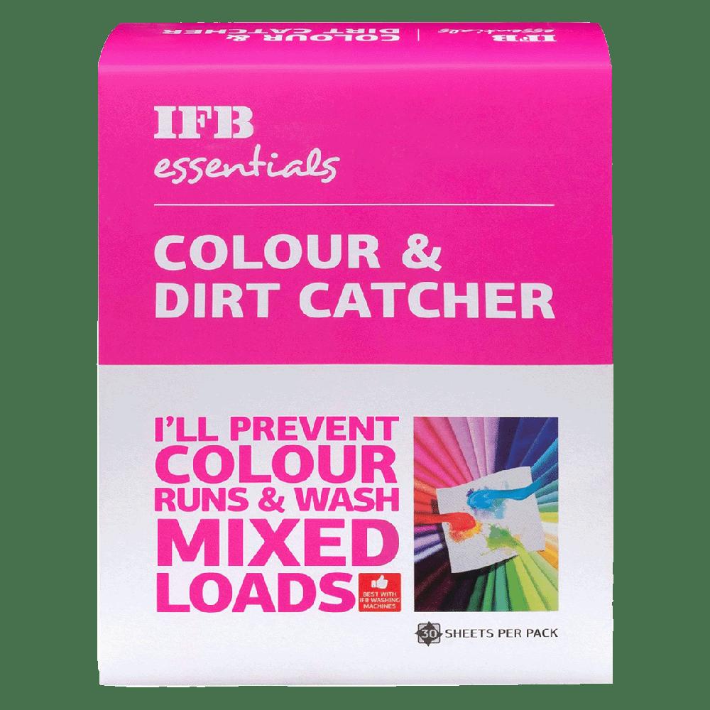 IFB Essentials Colour and Dirt Catcher (30 Sheets, Colour catcher, White)
