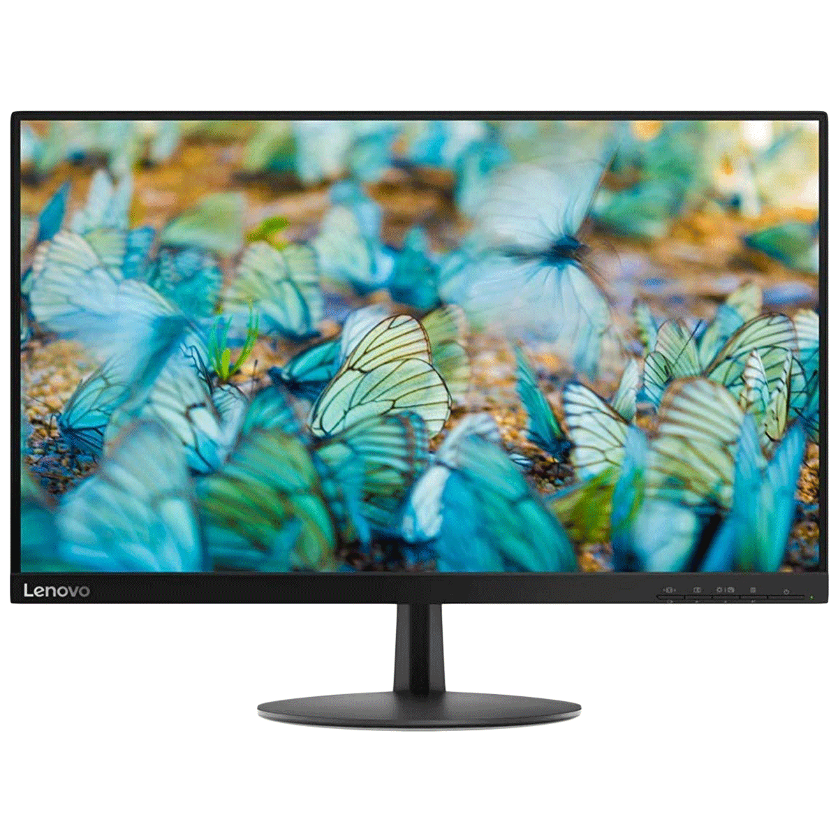 Lenovo L24e-20 60.45cm (23.8 Inches) Full HD LED Backlit Monitor (Near-Edgeless Display, HDMI + VGA, 60 Hz, 65DFKAC1IN, Raven Black)