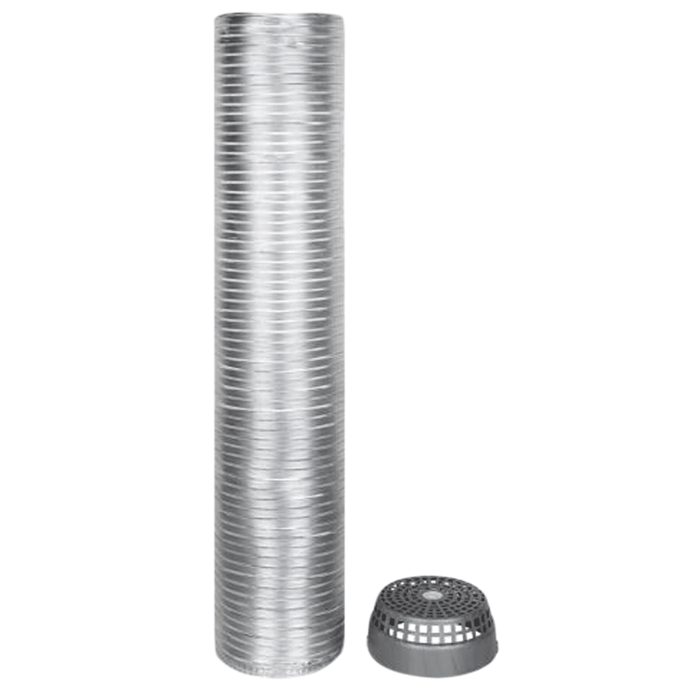 Faber Installation Kit For Electric Chimney (Aluminum Pipe, 112.0630.490, Silver)