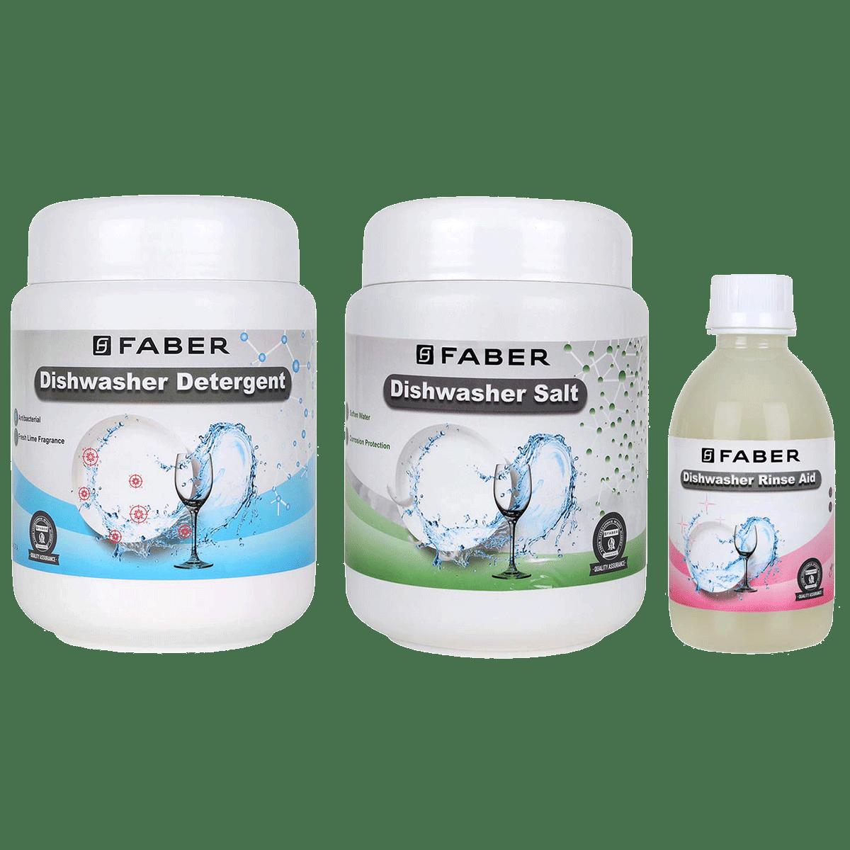 Faber Detergent Kit For Dishwasher (Shining Clean Utensils, 112.0630.660, White)
