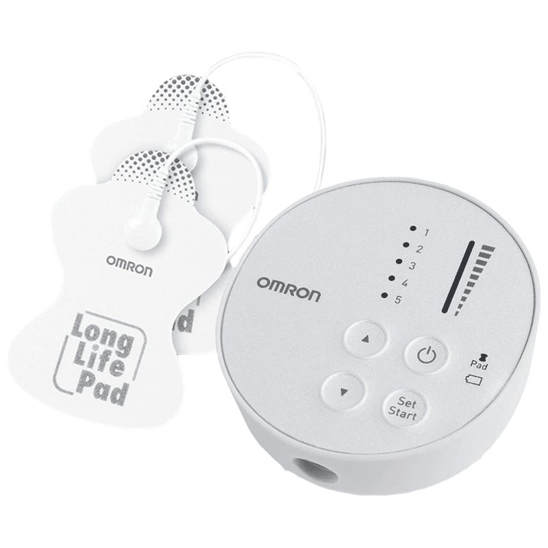 Omron Electronic Body Pulse Massager (Pocket-sized Therapy, HV F013, White)