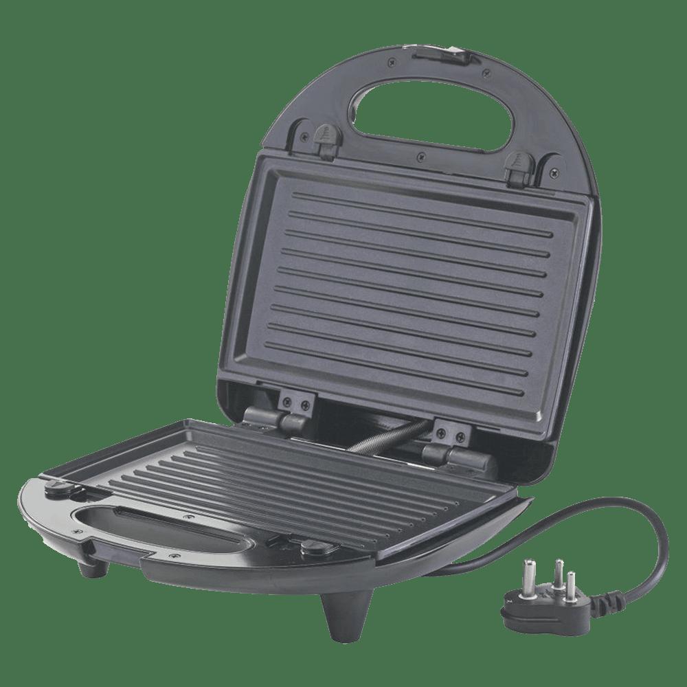Borosil Krispy Grill Neo 700 Watts 2 Slices Automatic Sandwich Maker (BSM70NDG13, Silver)_3