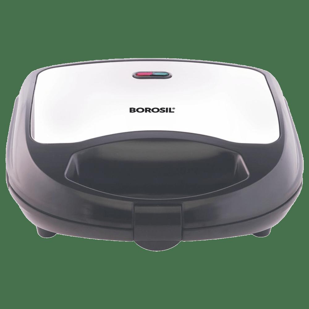 Borosil Krispy Grill Neo 700 Watts 2 Slices Automatic Sandwich Maker (BSM70NDG13, Silver)_1
