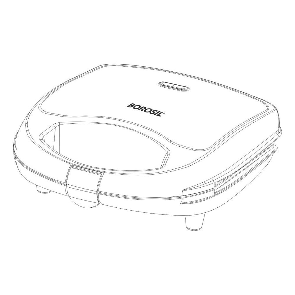 Borosil Krispy Grill Neo 700 Watts 2 Slices Automatic Sandwich Maker (BSM70NDG13, Silver)_5