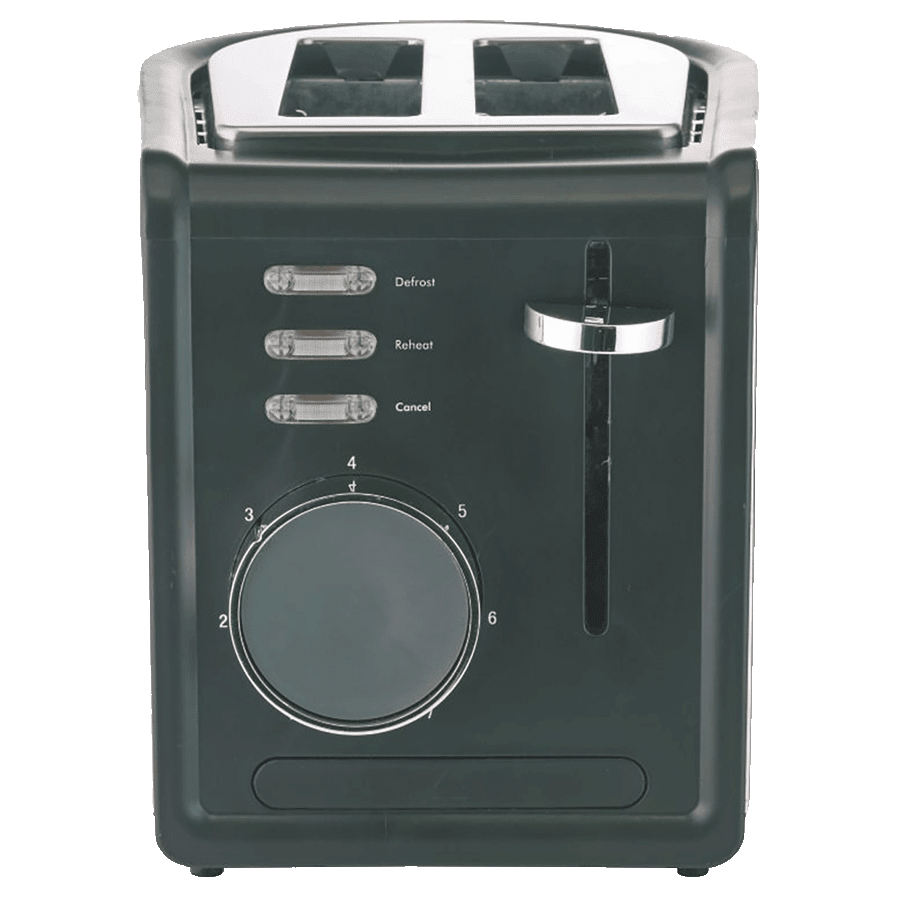 Borosil Krispy 850 Watts 2 Slice Automatic Pop-Up Toaster (Bread Slice Centering, BTO850WSS21, Silver)
