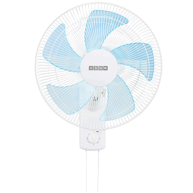 Usha Pentacool 40cm 5 Blade Wall Fan (With Copper Motor, 141022741, White)