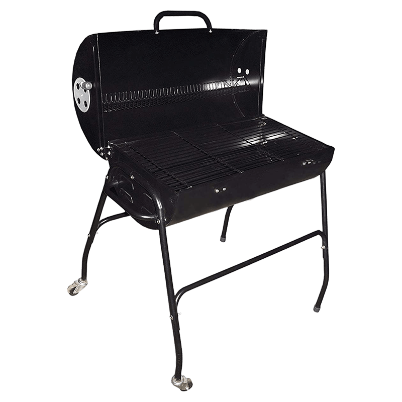 Peng Essentials Charcoal Barbeque Grill with Wheels (PNGBRB03, Black)