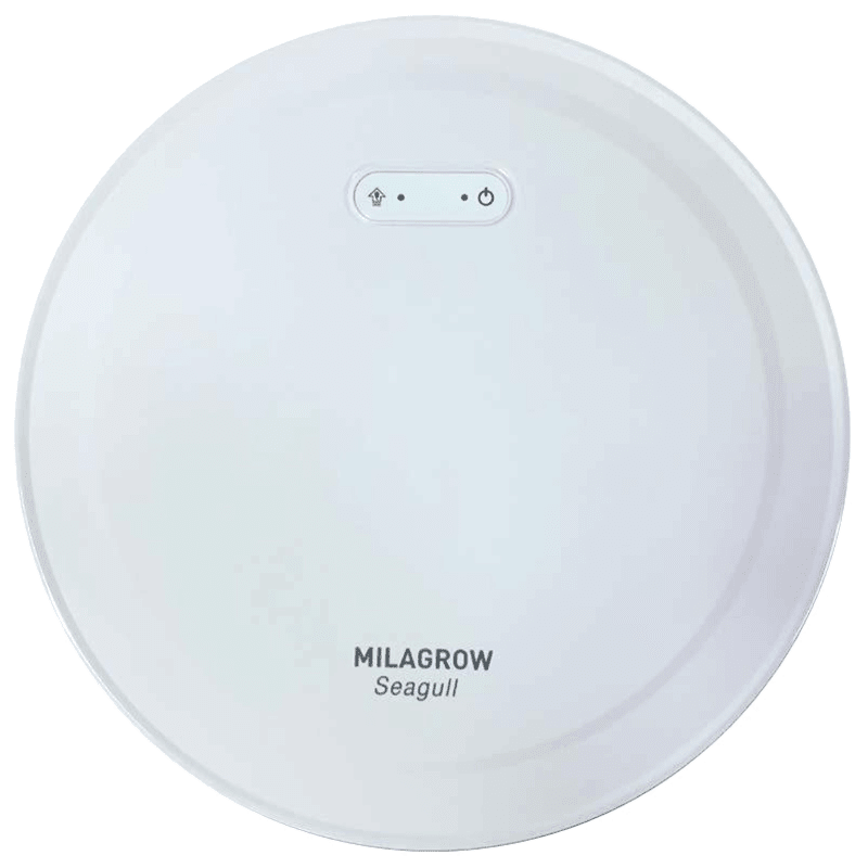 Milagrow Seagull 30 Watts Robotic Vacuum Cleaner (Wet & Dry, Alexa Voice Enabled, 0.65 L, White)