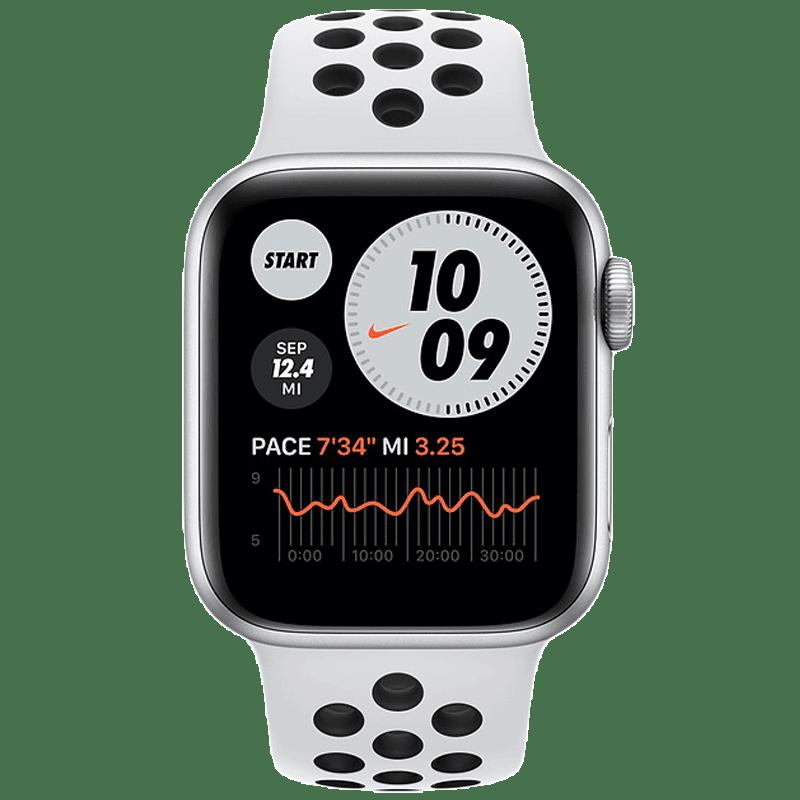 Apple Watch SE Nike (GPS, 44mm) (Always-on Altimeter, MYYH2HN/A, Silver, Sport Band)