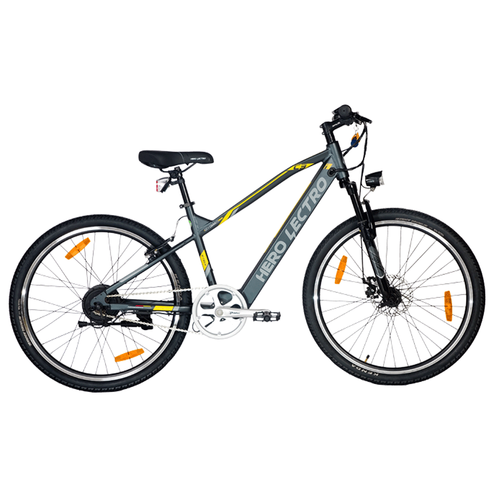 """Hero Lectro C3i SS Electric Bicycle (Daily Commute, 26"""" Alloy Rims, DIY Assembly, SHLE26GYBK04HM, Grey)"""