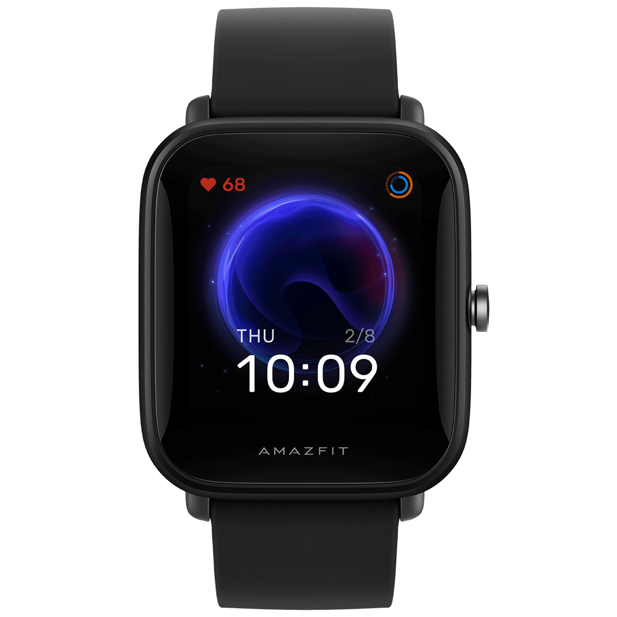 Amazfit Bip U Smart Watch (GPS) (Large Color Screen, A2017, Black, Silicon Rubber)
