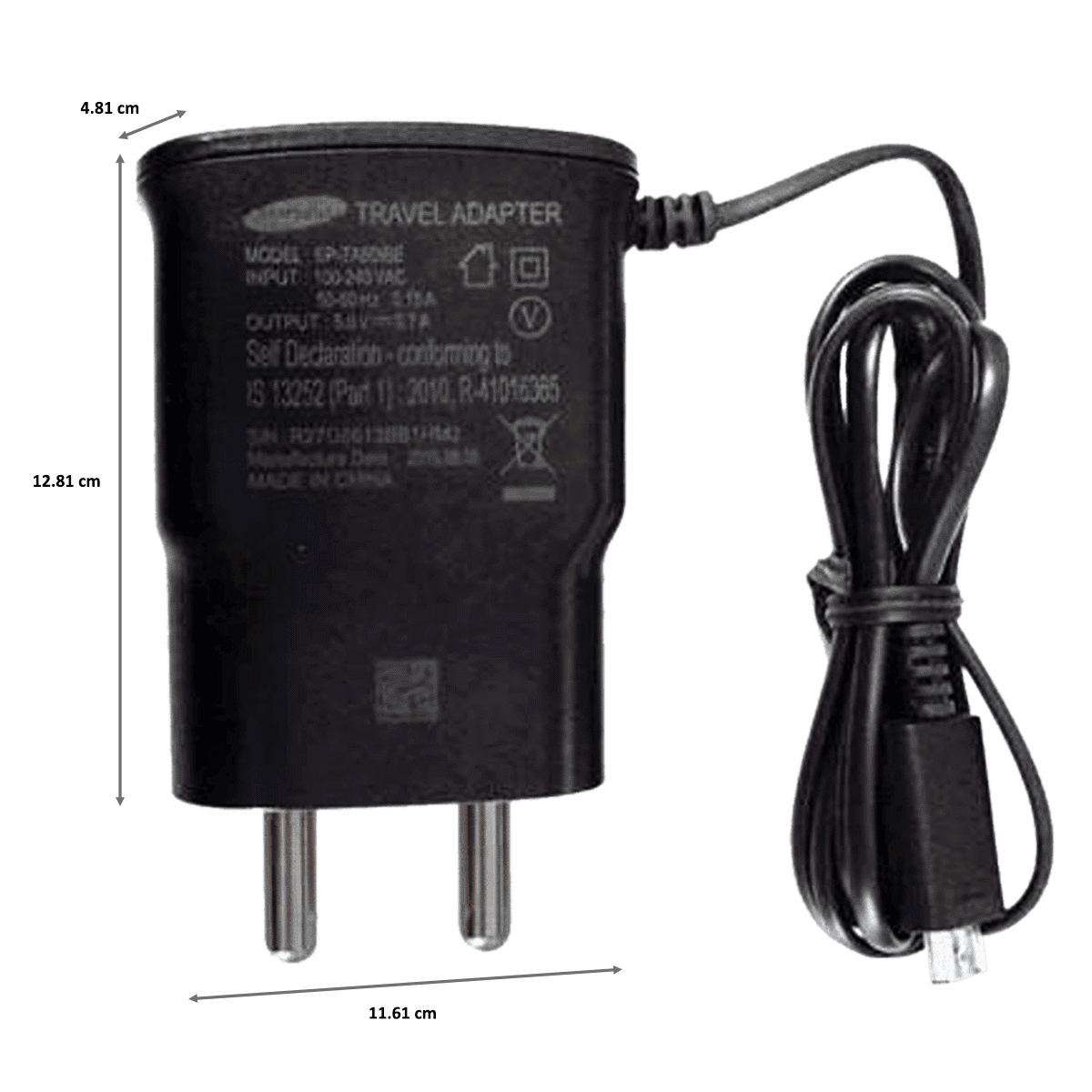 Samsung Wall Travel Adapter with Cable (EP-TA60IBEUGIN, Black)_2
