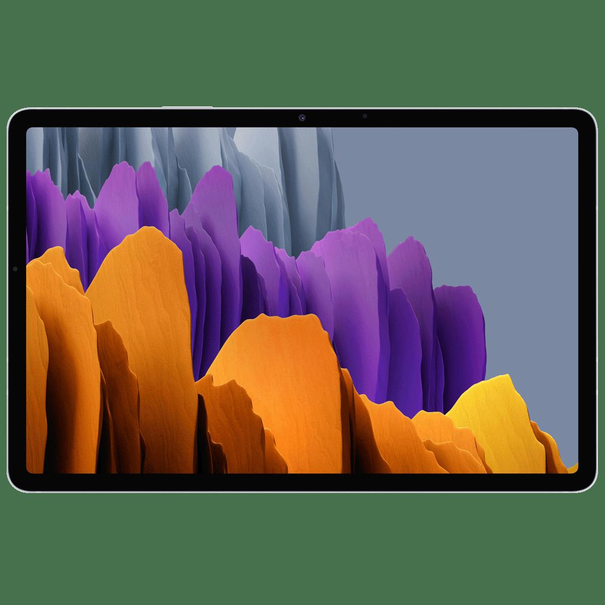 Samsung Galaxy Tab S7 Plus WiFi Android Tablet (Android 10, Qualcomm Snapdragon 865 Plus, 31.50 cm (12.4 Inches), 6GB RAM, 128GB ROM, SM-T970NZSAINU, Mystic Silver)