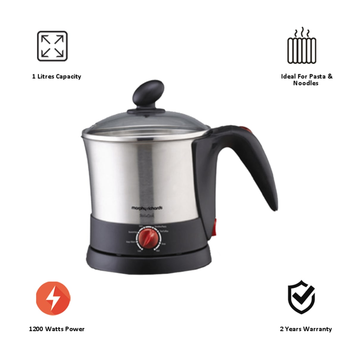 Morphy Richards Instacook 1 Litre Electric Kettle (590013, Silver)_6