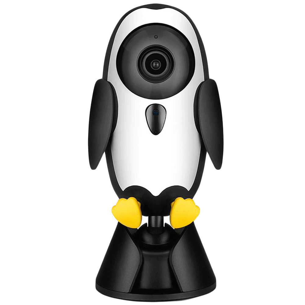 Qubo Baby Cam 1080p Full HD Wi-Fi CCTV Smart Baby Monitor (Alexa Supported, HCB01, White)