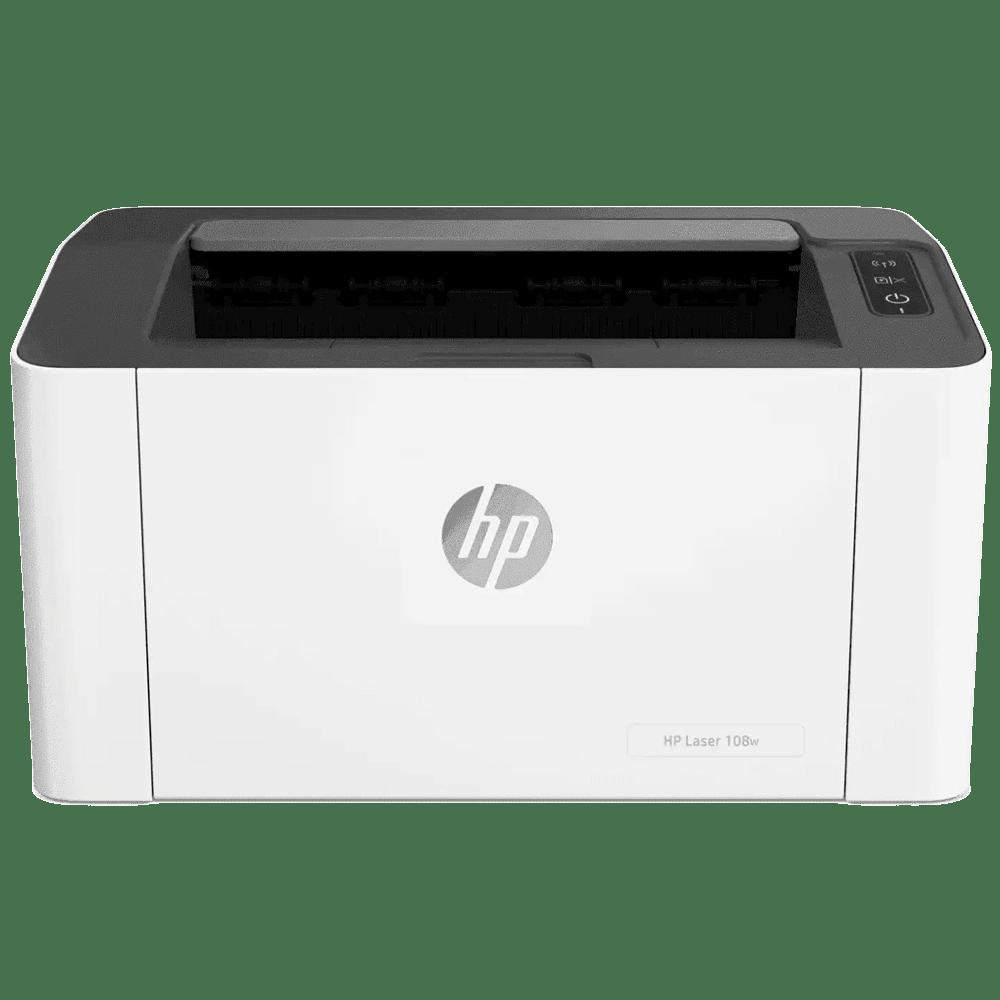 HP Laser 108w Wireless Black & White Laserjet Printer (Mobile Printing Capability, 4ZB80A, White)