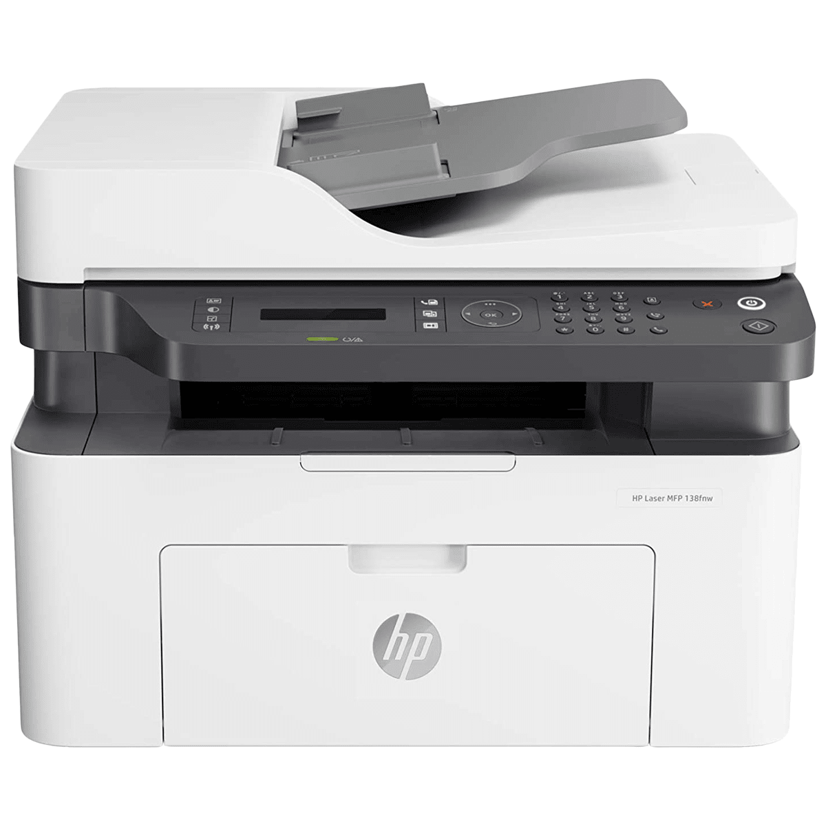 HP Laser 138fnw Wireless Black & White Multi-Function Laserjet Printer (Mobile Printing Capability, 4ZB91A, White)