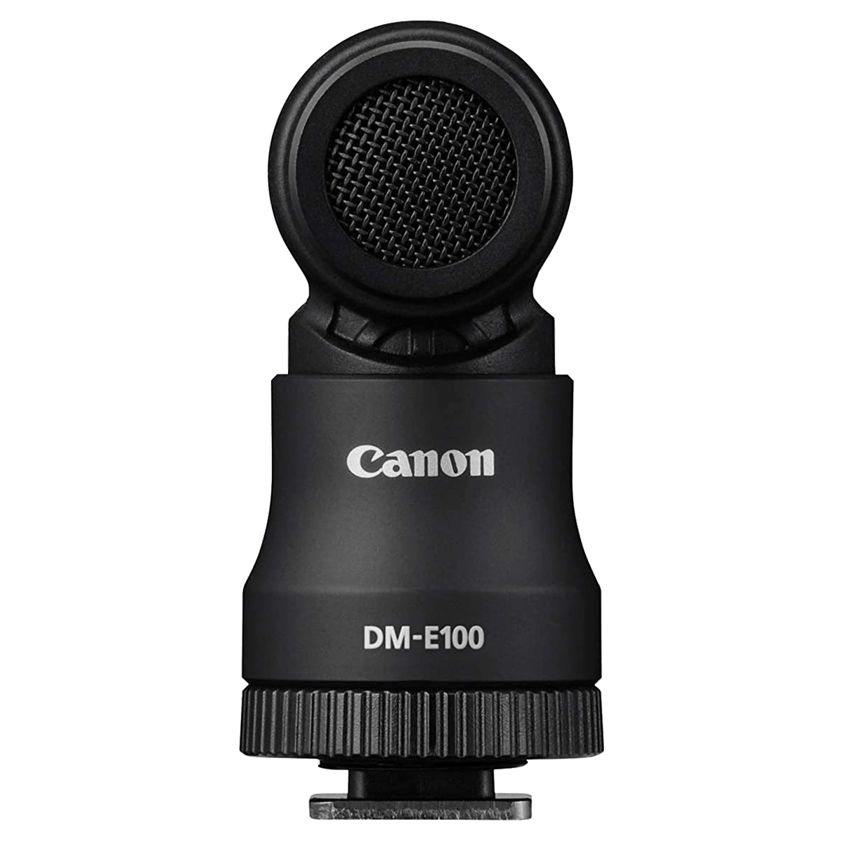 Canon DM-E100 Mic For DSLR Camera (Unidirectional Stereo Recording, 4474C001AA, Black)